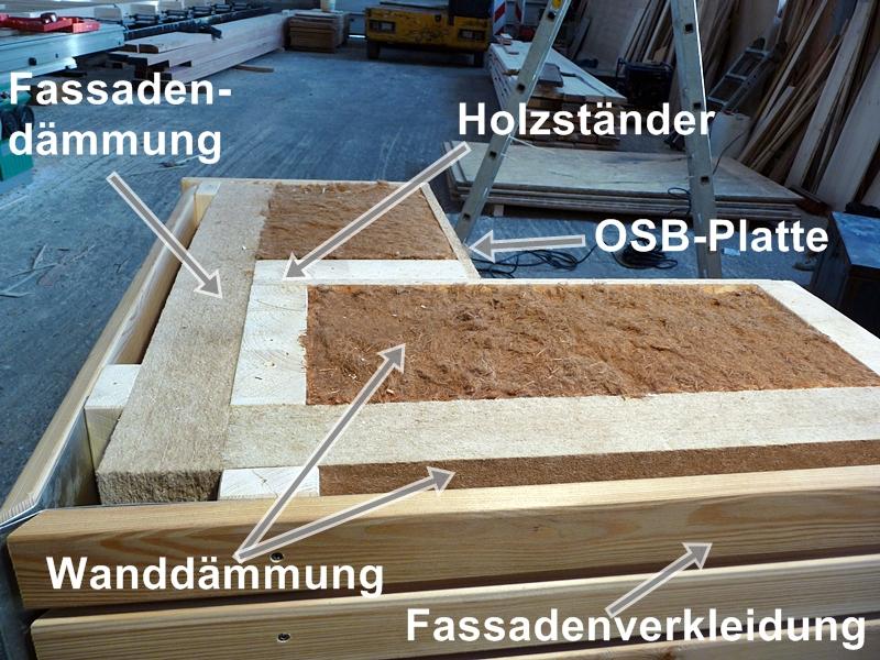 Kologisch bauen mit einem holzhaus v schneck in fulda - Wandaufbau holzhaus ...